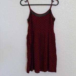 Forever 21 Cami Skater Dress w/Polka Dots